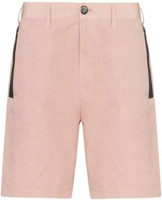 zip pocket knee-length Bermuda shorts