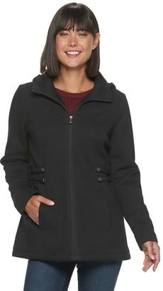 Details Women's Fleece Side Tab Hooded Jacket