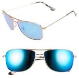 Ray-Ban Men's 59Mm Polarized Aviator Sunglasses - Matte Gold/blue Flash