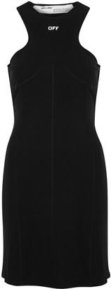 Off-White Black stretch-jersey mini dress