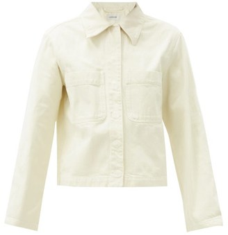 Lemaire Garment-dyed Cotton-twill Overshirt - Ivory