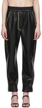 Nanushka Black Vegan Leather Selah Trousers