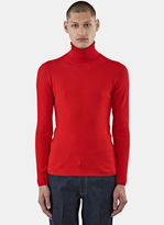 Gucci Men's Ribbed Roll Neck Sweater In Red