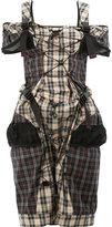 Maison Margiela backpack strap tartan dress - women - Cotton/Polyester/Polyurethane - 40