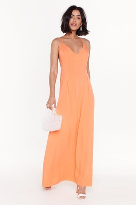 Nasty Gal Heading to Strappy Hour Halter Maxi Dress