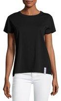 Kenzo Jersey Logo Flounce Skirt, Black