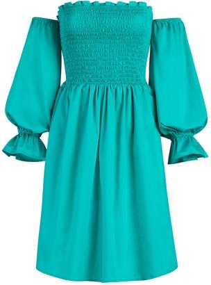 New York & Co. Smocked Off-The-Shoulder Dress