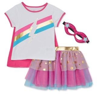 Wonder Nation Baby & Toddler Girl Cosplay T-shirt, Tutu Skirt & Headband, 3pc set (12M-5T)