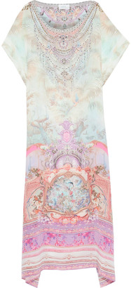 Camilla Electron Libre Crystal-embellished Printed Silk Crepe De Chine Maxi Dress