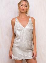 Motel New Women's Nude Sequin Finn Dress