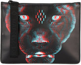 Marcelo Burlon County of Milan Rufo clutch bag - men - Leather - One Size
