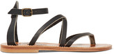K Jacques St Tropez Epicure Leather Sandals - Black