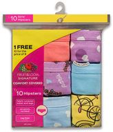 Fruit of the Loom Girls 4-14 9-pk. Signature Cotton Hipster Panties