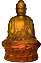 Lalique Small Buddha Figure, Amber