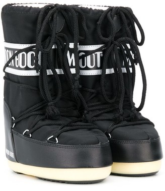 MOON BOOT KIDS Lace Up Logo Snow Boots