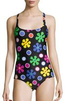 Moschino Fantasy Floral Printed One-Piece Swimsuit