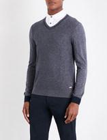 BOSS ORANGE V-neck knitted jumper