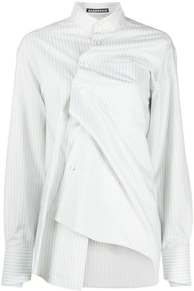 aganovich Deconstructed Striped Shirt