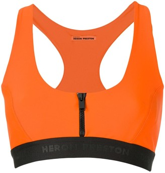 Heron Preston zip front sports bra