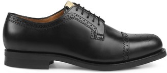 Gucci Brogue leather lace-up shoe