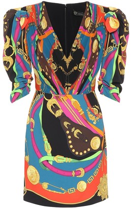 Versace Barocco Rodeo printed minidress
