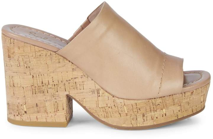 Splendid Trinidad Leather Platform Mules