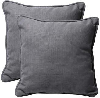 """Rave Graphite 18.5"""" Throw Pillow, Set of 2"""