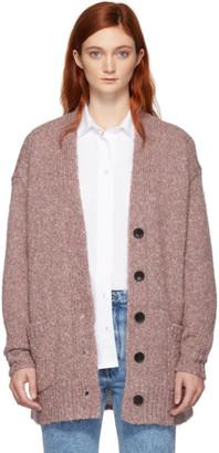 Etoile Isabel Marant Pink Alpaca Scott Tweedy Knit Cardigan