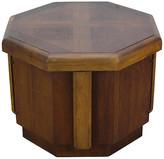 One Kings Lane Vintage Midcentury Octagonal Side Table - Vintage Bella Home - brown