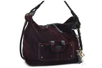 Chloé Burgundy Suede Handbags