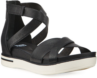 Eileen Fisher Sally Leather Comfort Sandals