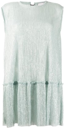 Alysi V-back pleated top