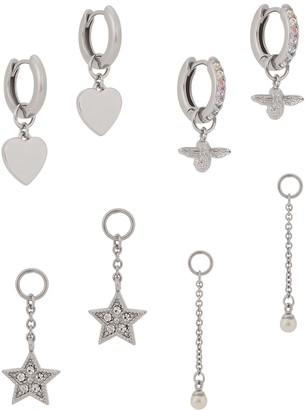 Olivia Burton House Of Huggies sterling silver hoop earrings gift set