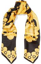 Versace Printed Silk-Satin Twill Scarf