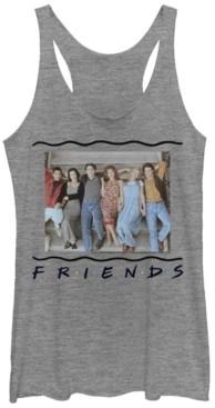 Fifth Sun Friends 90S Porch Group Portrait Tri-Blend Women's Racerback Tank