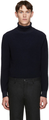 Giorgio Armani Blue Boucle Turtleneck