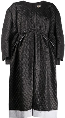 Comme des Garcons Double Sleeved Pleated Shift Dress