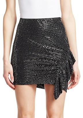 IRO Lilie Sequin Ruffle Mini Skirt