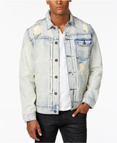 INC International Concepts Men's Ripped and Faded Denim Jacket, Created for Macy's