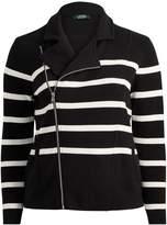 Lauren Ralph Lauren Ralph Lauren Striped Cotton Full-Zip Jacket