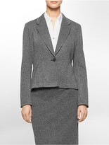Calvin Klein One Button Textured Suit Jacket