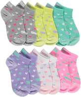 "Puma Girls' ""Multi-Heart"" 6-Pack Low Cut Socks"