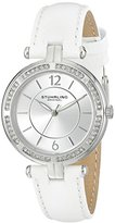 Stuhrling Original Women's 550.01 Stainless Steel Watch with White Band