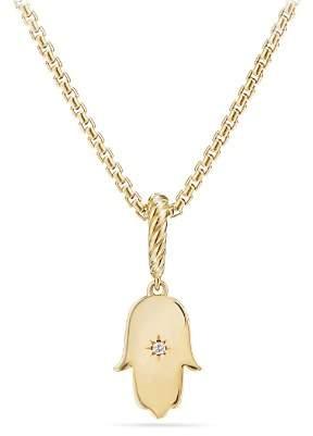 David Yurman Hamsa Amulet with Diamonds in 18K Gold
