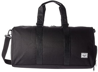Herschel Novel Mid-Volume (Black/Black Synthetic Leather) Duffel Bags