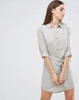 AX Paris Tie Waist Shirt Dress