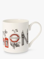 Mclaggan Smith McLaggan Smith London Mug, 300ml, White/Multi