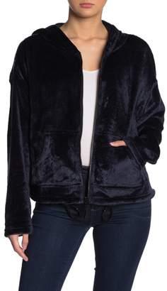 Dress Forum Plush Drawcord Hem Hooded Jacket