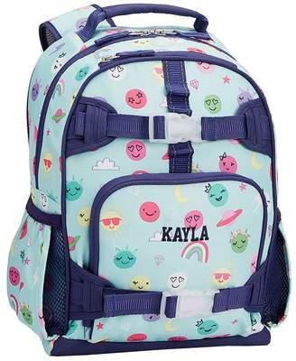 Pottery Barn Kids Mackenzie Aqua/Lavender Charming Emojis Classic Lunch Bag