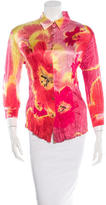 Roberto Cavalli Silk Floral-Print Top